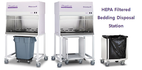 HEPA Filtered Bedding Disposal Station